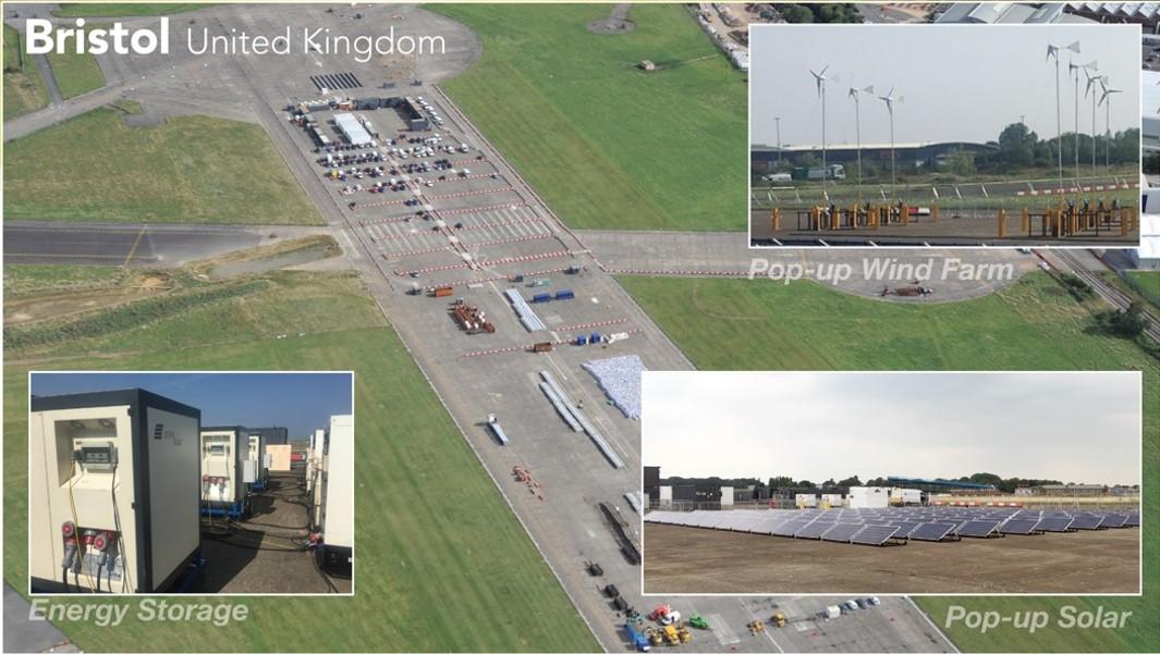 SaveBox Industry Stromspeicher Bristol Großbaustelle