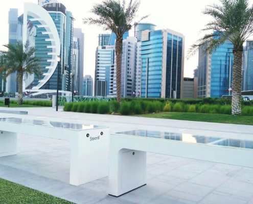 steora smart bench Doha - Qatar intelligente Parkbank