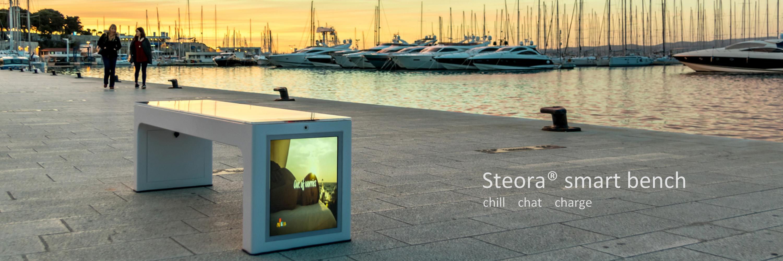 Steora smart bench. Die wohl intelligenteste Parkbank der Welt