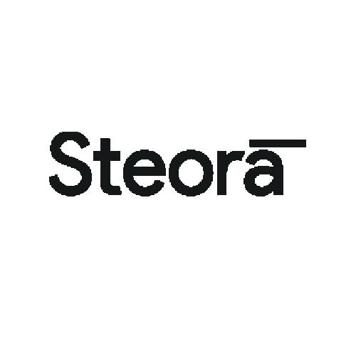 Steora smart bench Logo. Intelligente Parkbank.