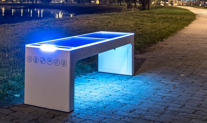 Steora smart bench Nachtbeleuchtung