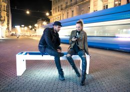 Steora smart bench. Die intelligente Parkbank.