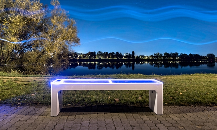 Steora smart bench intelligente Parkbank
